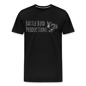 Battle Bird Logo (white) - Men's Premium T-Shirt