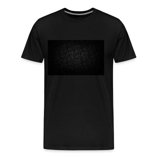 black background pattern light texture 55291 3840x - Men's Premium T-Shirt
