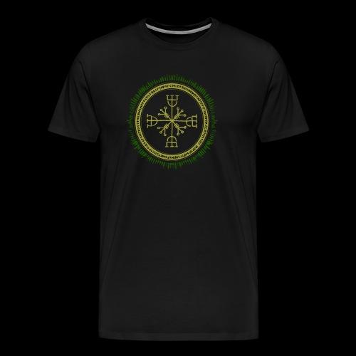 Norse Runes with Aegishjalmur 2017 - Men's Premium T-Shirt
