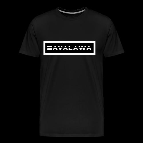 SavaLawa Schrift Schwarz/Weiß - Männer Premium T-Shirt
