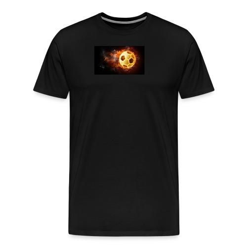 Fussfall Ball Grafik - Männer Premium T-Shirt