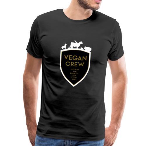 VEGAN CREW SHIELD - Männer Premium T-Shirt