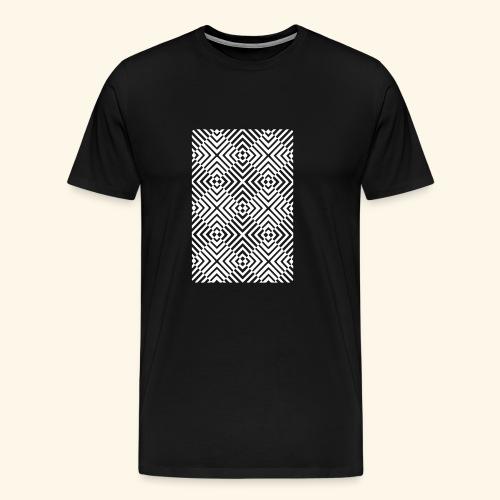 Rauten Vektor T-Shirt - Männer Premium T-Shirt