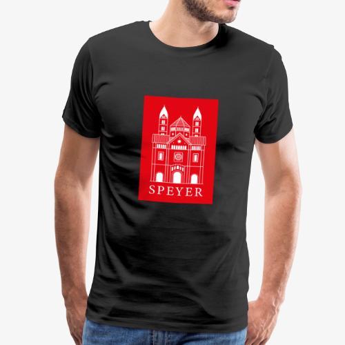 Speyer - Dom - Red - Classic Font - Männer Premium T-Shirt