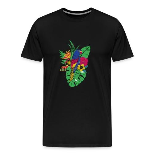 gaya flower parrot - Männer Premium T-Shirt