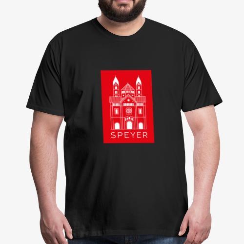 Speyer - Dom - Red - Modern Font - Männer Premium T-Shirt
