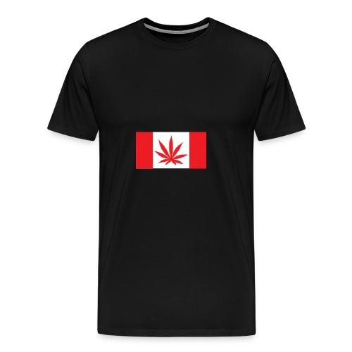 Kanada Flagge Marihuana - Männer Premium T-Shirt