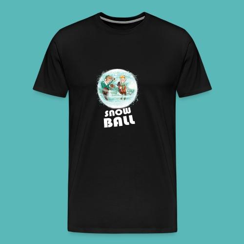 snow ball - Camiseta premium hombre