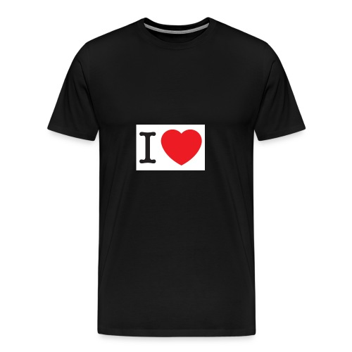 i love illustration with heart - Mannen Premium T-shirt