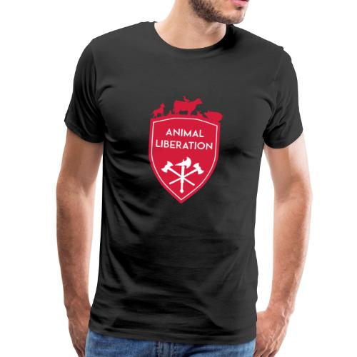 ANIMAL LIBERATION SHIELD - Männer Premium T-Shirt