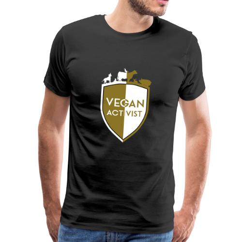 VEGAN ACTIVIST SHIELD DIVISION - Männer Premium T-Shirt