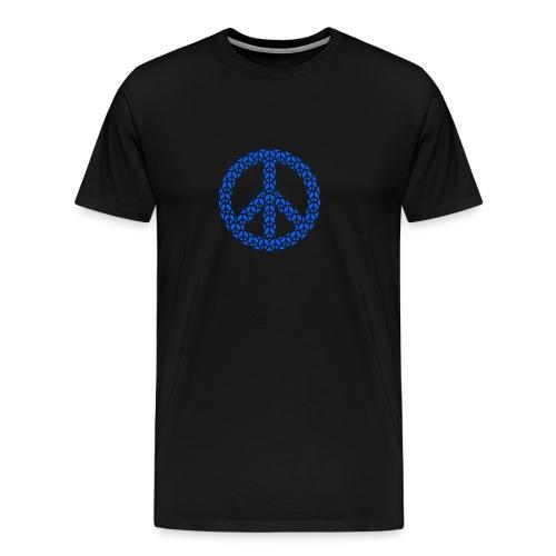 Peace Zeichen in blau - Männer Premium T-Shirt