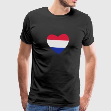 heart Nederländerna - Premium-T-shirt herr