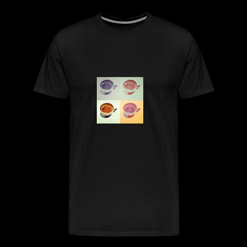 Kaffee in vier Jahreszeiten - Männer Premium T-Shirt