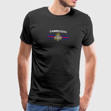 Cambodian Flag Shirt - Cambodian Emblem & Cambodia - Men's Premium T-Shirt