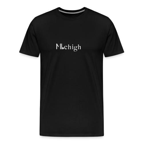 Milehigh Rags Logo White - Premium T-skjorte for menn