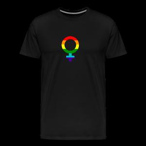 Gay pride regenboog vrouwen symbool - Mannen Premium T-shirt