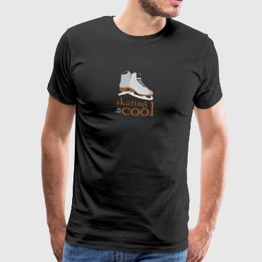 Luistimet luistelu Taitoluistelu jääkiekkoluistin - Miesten premium t-paita