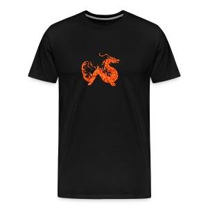orange roter Drachen - Männer Premium T-Shirt
