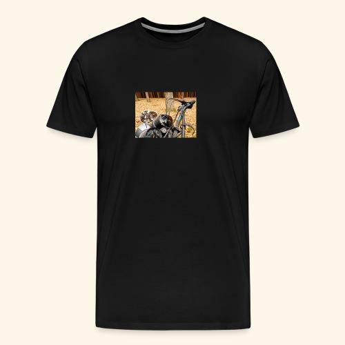 Freetree Motorrad pic - Männer Premium T-Shirt