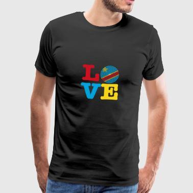 KONGO HERZ - Männer Premium T-Shirt