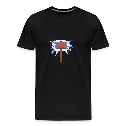 Sledge hammer Pixel - Premium-T-shirt herr