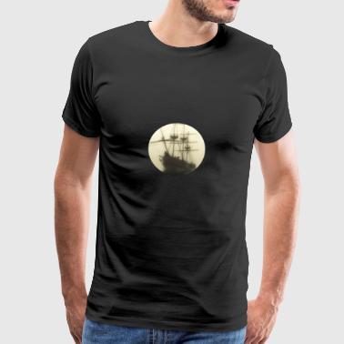 Båt i tåken. Bounty. - Premium T-skjorte for menn