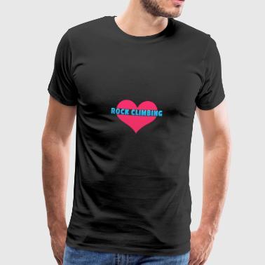 Kärlek bergsklättring - Premium-T-shirt herr