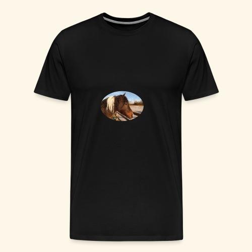 Curlyhorse - Premium T-skjorte for menn