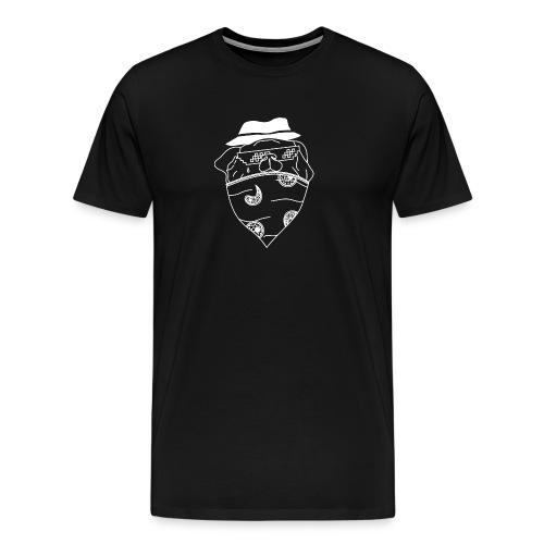Pølsa The Thug / Pug Thug - Premium T-skjorte for menn