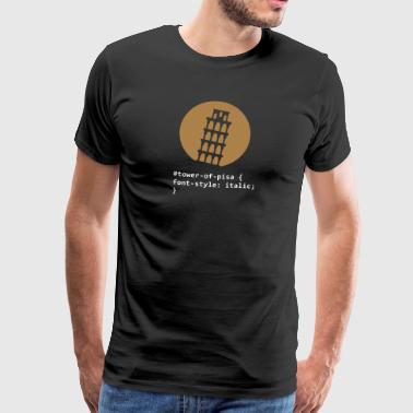 Wieża Pisa - Koszulka męska Premium