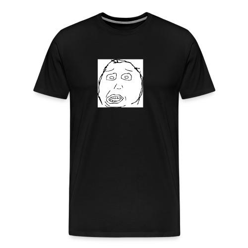 dumb face - Men's Premium T-Shirt