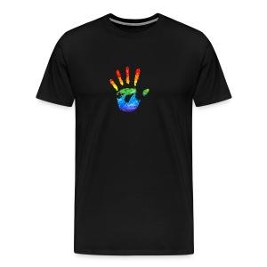 Regenbooghand - Mannen Premium T-shirt