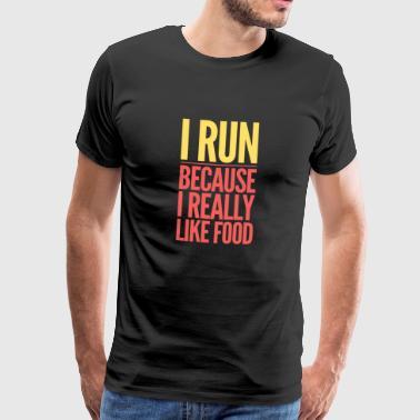 Love 2 Run - Maglietta Premium da uomo