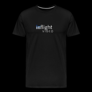 inflight Video White Logo - Men's Premium T-Shirt