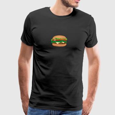 smörgås ost, tomat, sallad - Premium-T-shirt herr