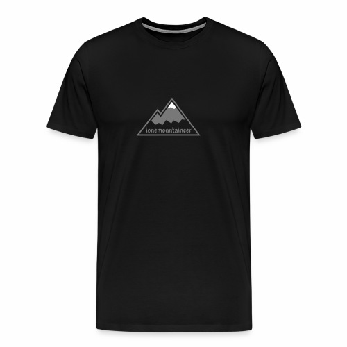 Lonemountaineer logo wht - Men's Premium T-Shirt