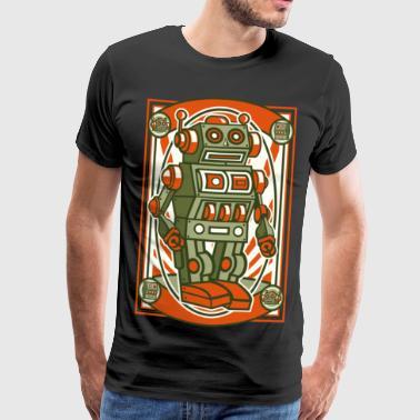 Vintage Robot tecknad Anime Manga Comic Weihnachte - Premium-T-shirt herr