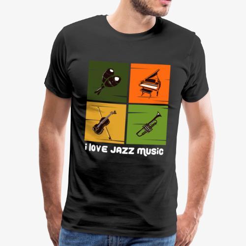 Jazz Musik amerikanisch Musiker Genre Geschenk - Männer Premium T-Shirt