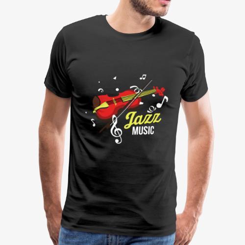 Jazz Musik Genre Musiker Violine Geige Geschenk - Männer Premium T-Shirt