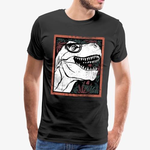 Dinosaurier Dino T-Rex wild Reptil Geschenk - Männer Premium T-Shirt