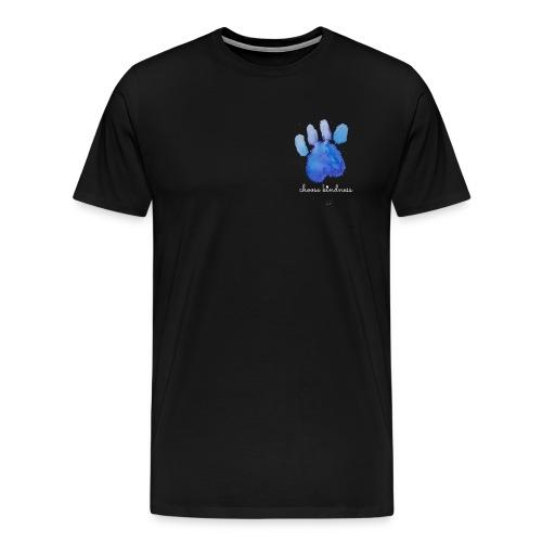 Tierfreund Choose Kindness Hundepfote Wasserfarben - Männer Premium T-Shirt