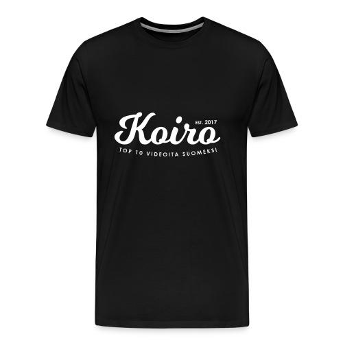 Koiro - Valkoinen Teksti - Miesten premium t-paita
