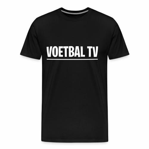 voetbal tv shirt tekst wit 2 - Mannen Premium T-shirt