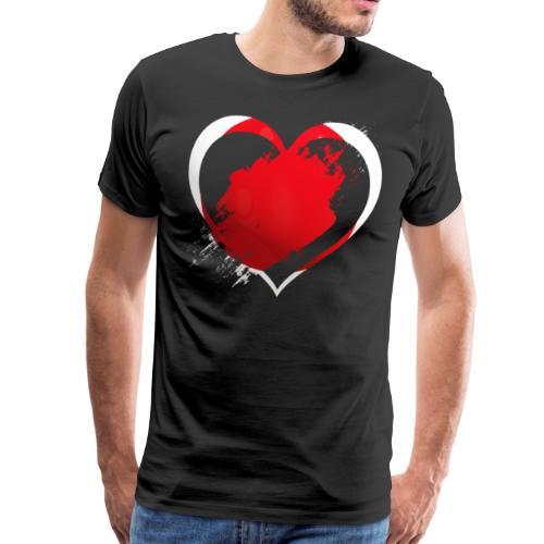 Japan Herz - Männer Premium T-Shirt