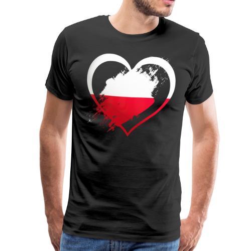 Polen Herz! - Männer Premium T-Shirt