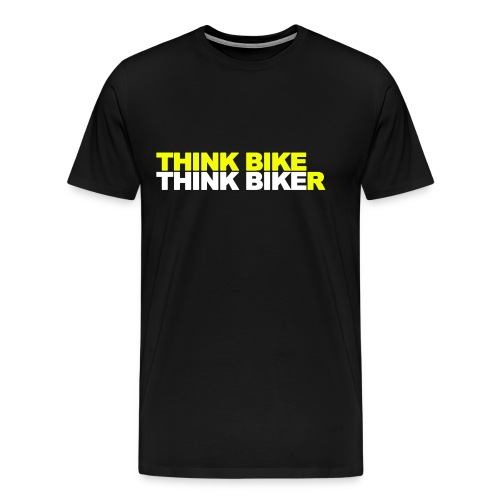 Think Bike Think Biker - Men's Premium T-Shirt