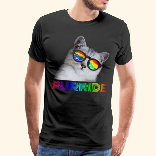 Purride Pride Katze LGBT Lustiges Cat Geschenk - Männer Premium T-Shirt