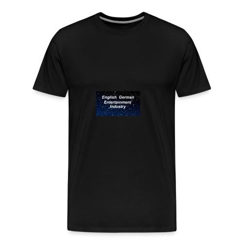 english german entertainment Industry logo - Männer Premium T-Shirt