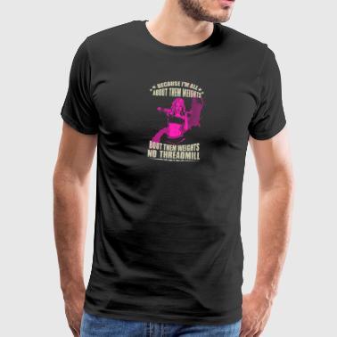 Koska olen kaikki - Miesten premium t-paita